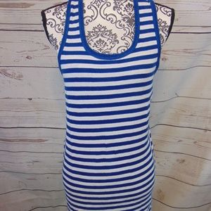 west loop XL tank dress navy white